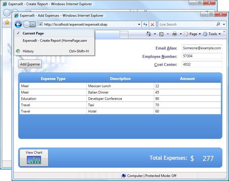 Ejemplo Windows Presentation Foundation - WPF